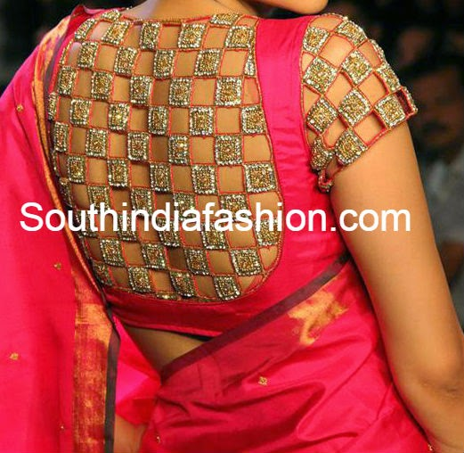 latest blouse patterns for pattu sarees