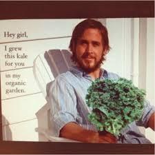 kale, ryan gosling, healthy swaps
