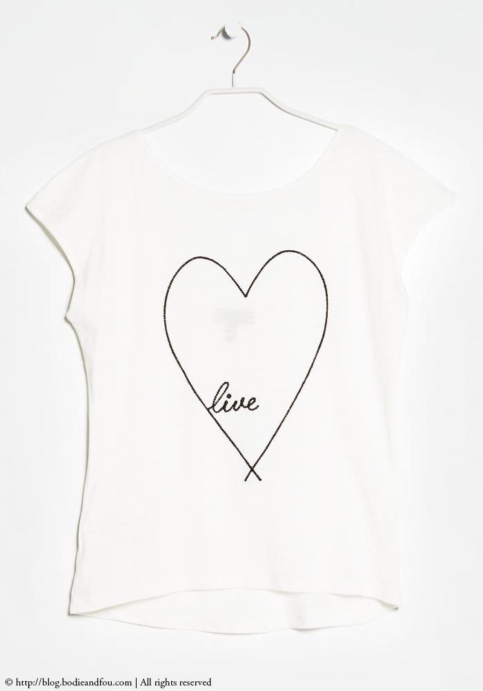 Things I want right now! This heart t-shirt, white t-shirt, cool t-shirt & more on http://blog.bodieandfou.com/
