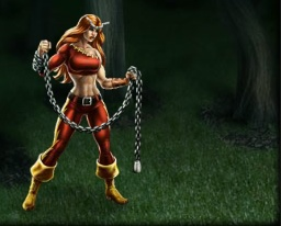 Thundra with chain weapon