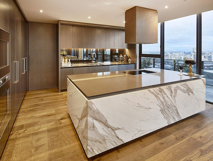 marble island - Melbourne Penthouse styled by Megan Hess