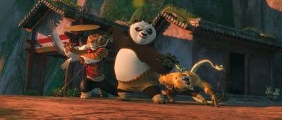 Po et les Cinq Cyclones dans Kung Fu Panda 2