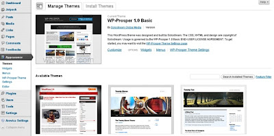 WordPress Theme Section