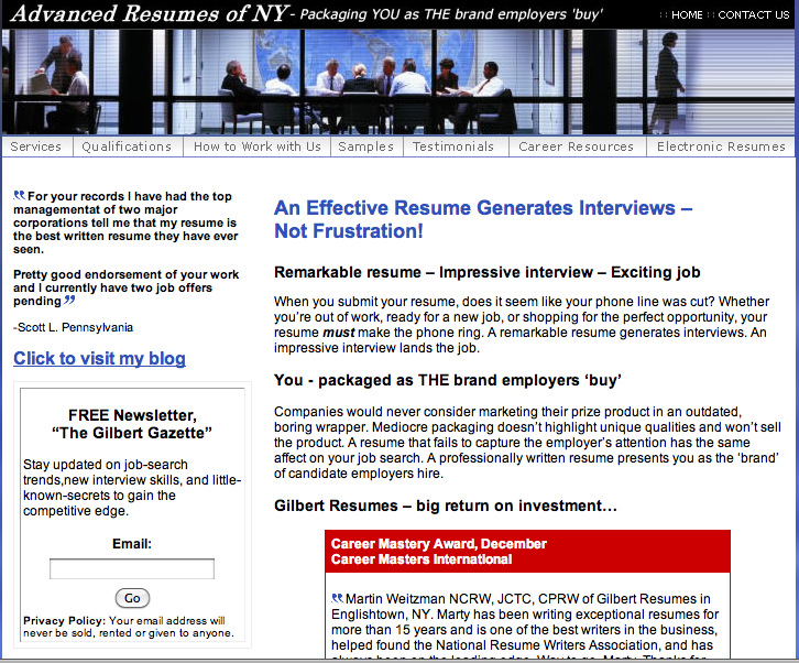 kevin donlin resume services