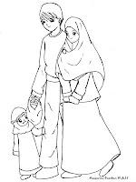Mewarnai Gambar Contoh Anak Soleha Dalam Keluarga Sakinah
