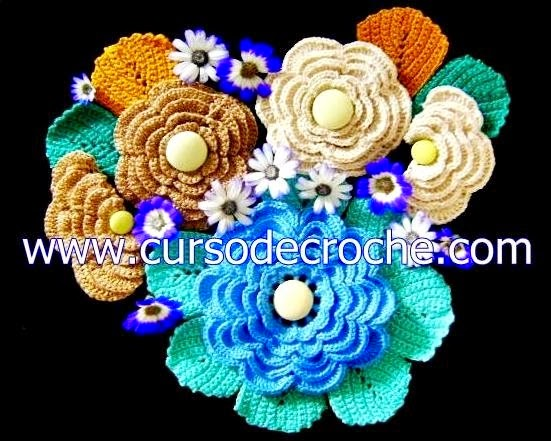dvd flores e folhas em croche 5 volumes em aprender croche com frete gratis