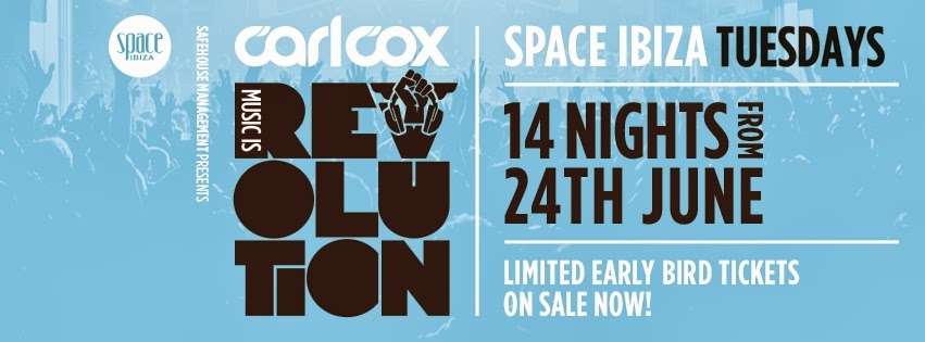 Carl Cox Announces Longest Ever Season - Ibiza 2014