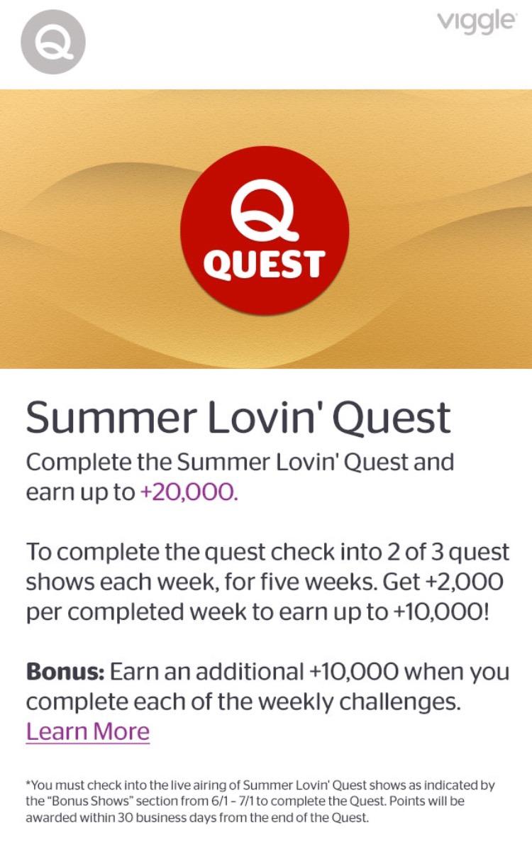 Summer Lovin' Quest