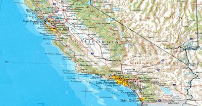 sismos sur de california - mapa