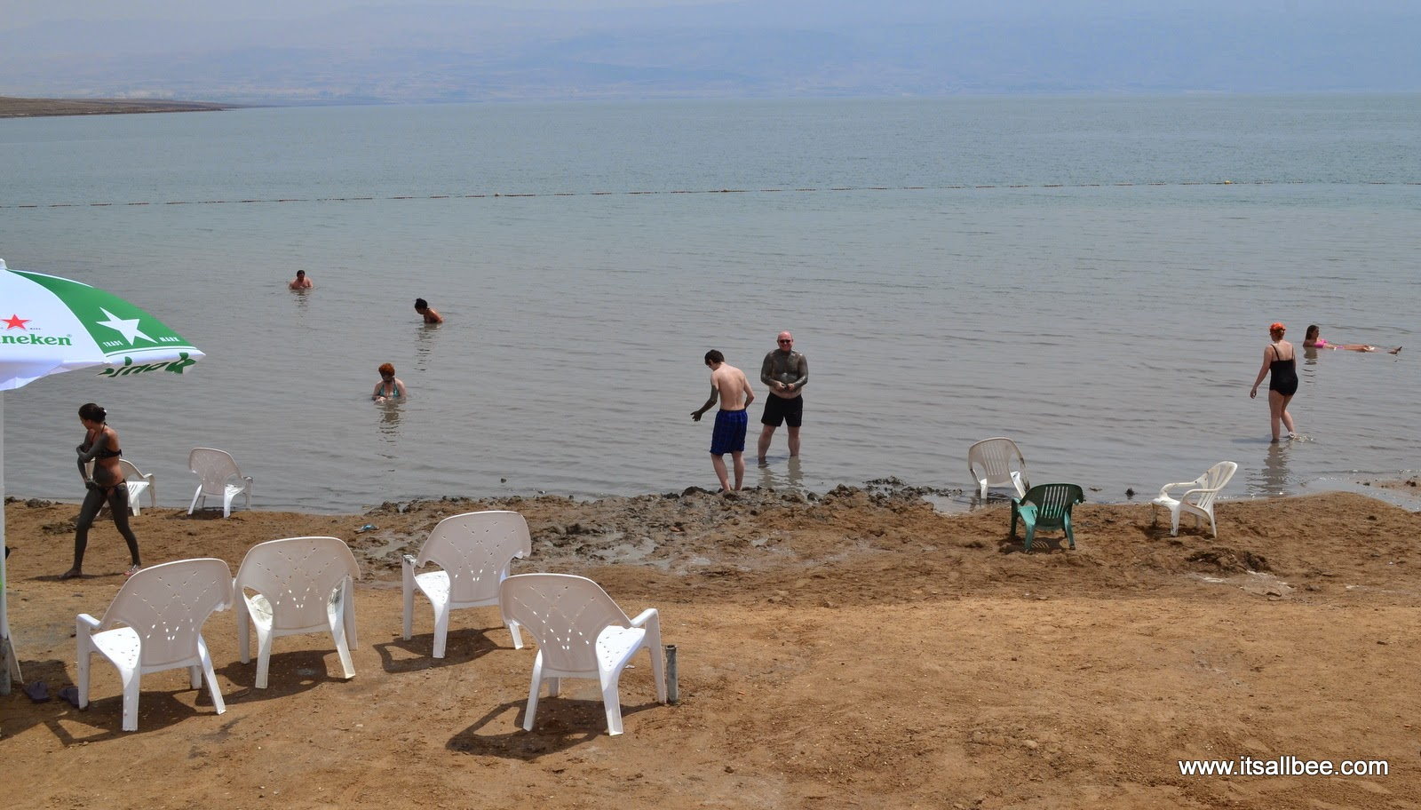 Floating in Israel's Dead Sea