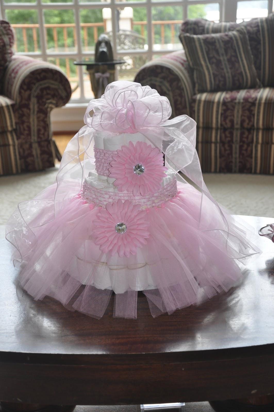 How To Make A Pink Tutu Diaper Cake