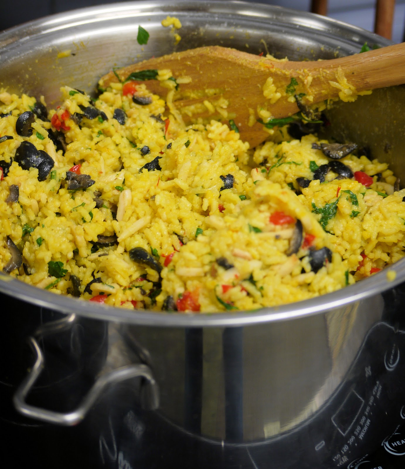 Foodture: Cooking for a Healthy Future: Saffron Almond Rice Pilaf