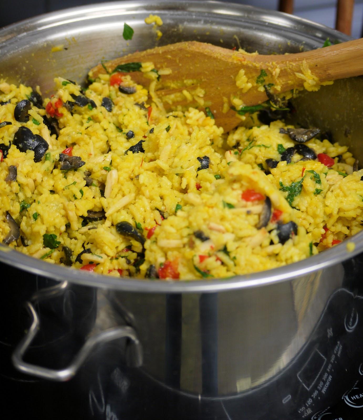 Saffron Almond Rice Pilaf