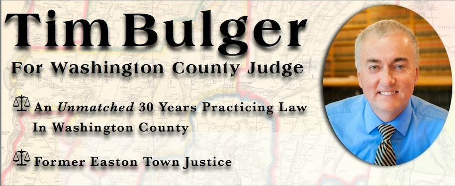 Tim Bulger For Washington County Judge