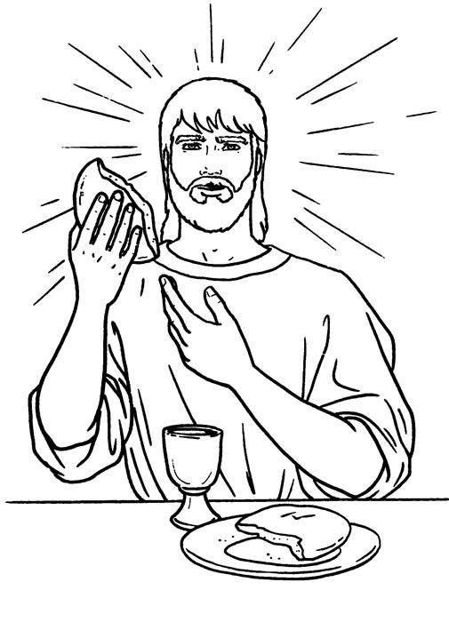 Dibujo de La Ultima Cena para imprimir y colorear ~ Dibujos ...