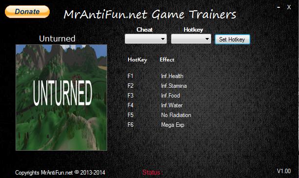 Unturned V2.0.8 Trainer +6