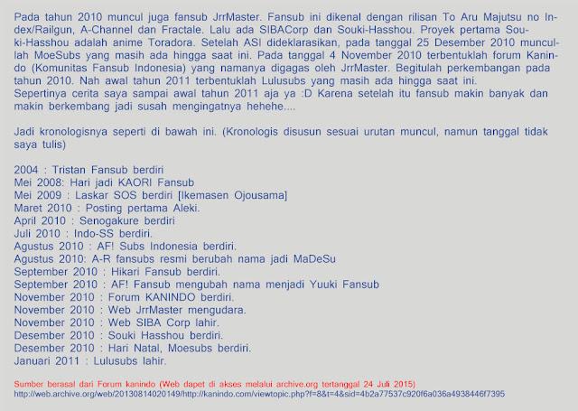 Tambahan dari salah satu admin forum kanindo