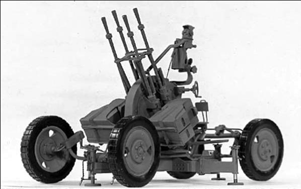 Anti-aircraft Gunfire Zpu-4 Anti-aircraft Machine