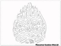 kaligrafi bismillah beserta artinya