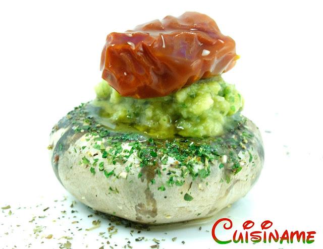 champiñones rellenos, recetas originales, champiñones, recetas de cocina, guacamole, tomate, queso, recetas caseras, tapas, curiosidades, humor