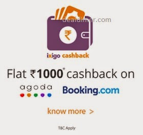 Flights & Hotels upto Rs. 1000 Cashback – IxiGo
