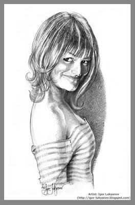 free portrait of a woman (cross-hatching)