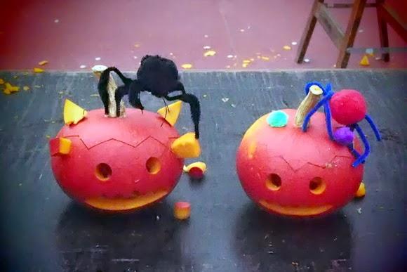 Pompoenen versieren