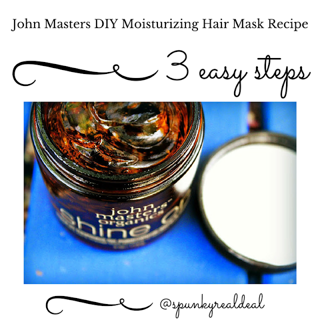 John Masters Organics DIY moisturizing hair mask recipe