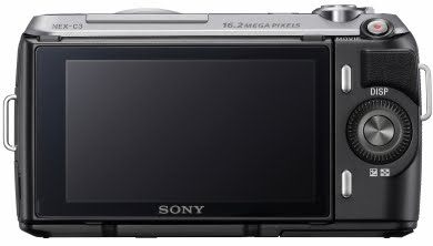 sony nex 3c black rear nex3c