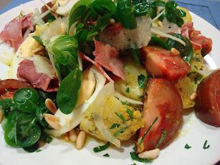 cabeza de jabalí ensalada verano patata vinagreta mostaza