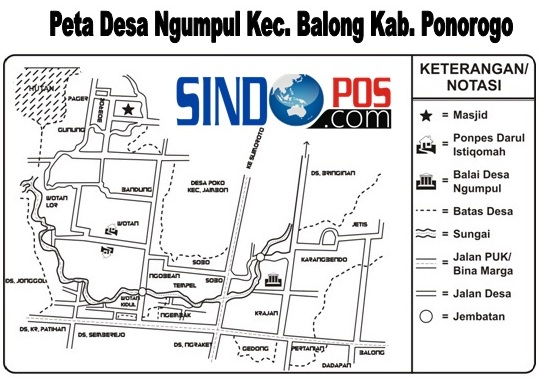 Profil Desa & Kelurahan, Desa Ngumpul Kecamatan Balong Kabupaten Ponorogo