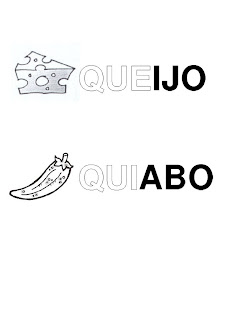 Silabário: que, qui