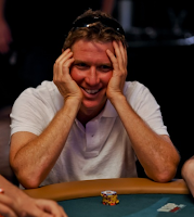 Steve Rosen, elated that he snuck into the money at the 2011 WSOP Main Event