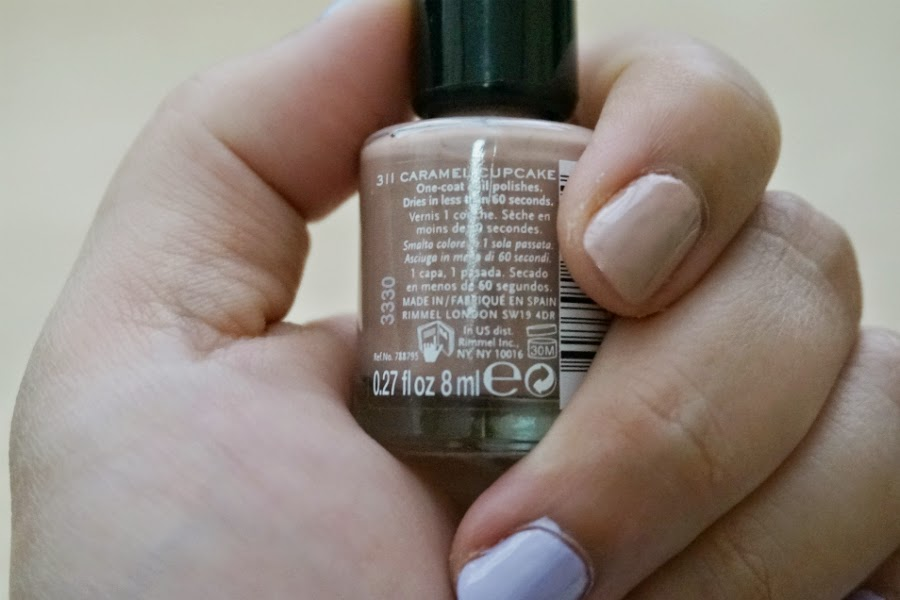 Rimmel 60 Seconds Nail Polish in Caramel Cupcake