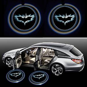 BATMAN Brake Light 2x Night Cold Blue bat batman Black Wireless car door LED projection projector light