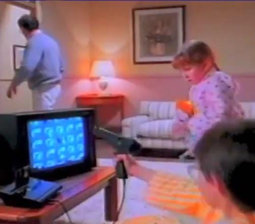 Propaganda de 1989 do vídeo game Phantom System da Gradiente.