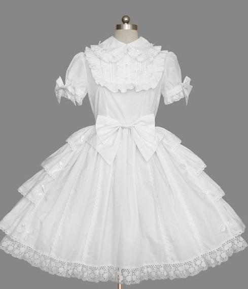 white classic lolita dress