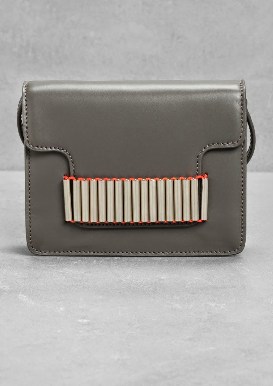 stories grey shoulder bag, grey shoulder bag orange,
