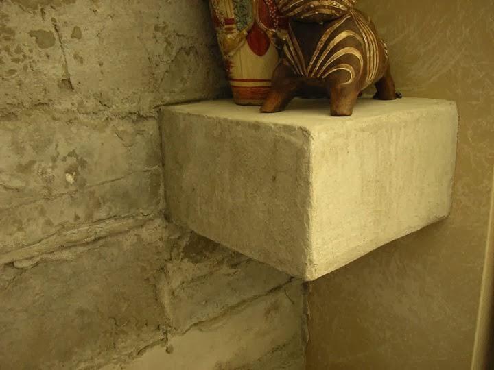 Комбинация с декоративна поставка бетон