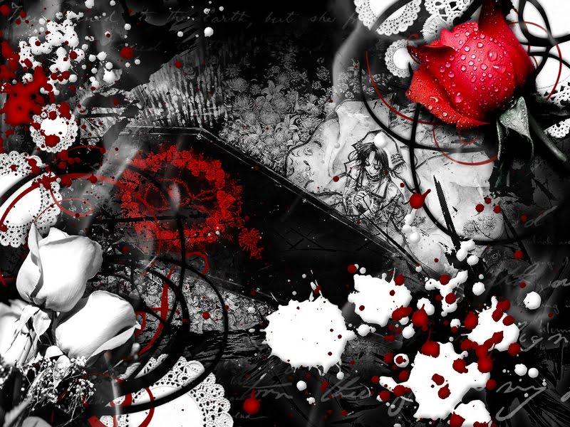 Emo Red Rose Wallpaper