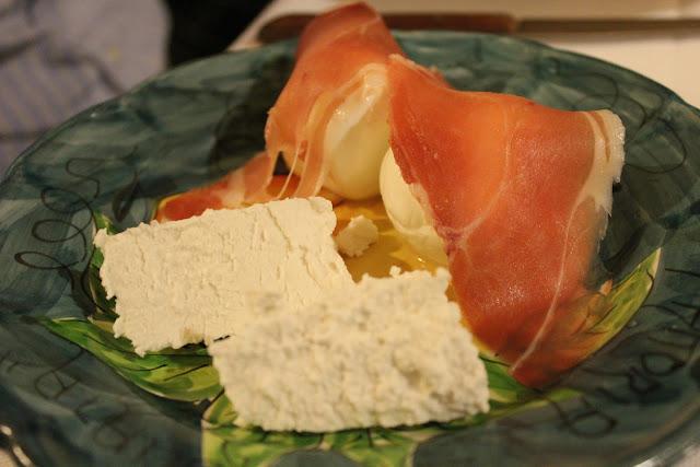 Ricotta, mozzarella, and prosciutto at La Tagliata, Positano, Italy