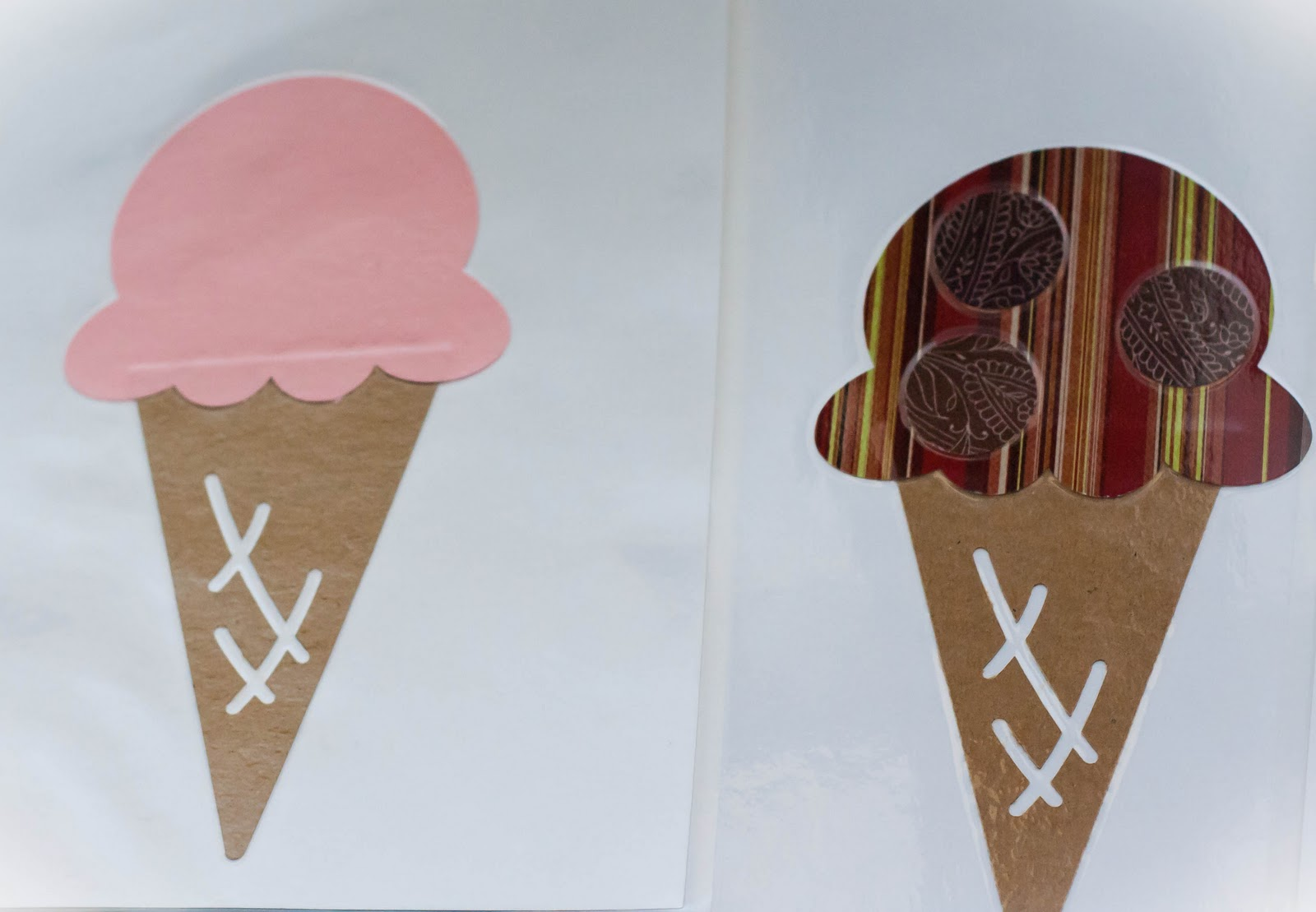 Ice cream party games and activities my insanity i used my other craft punches to make extra shapes to designate the various flavors of ice cream and then had them all laminated ccuart Image collections