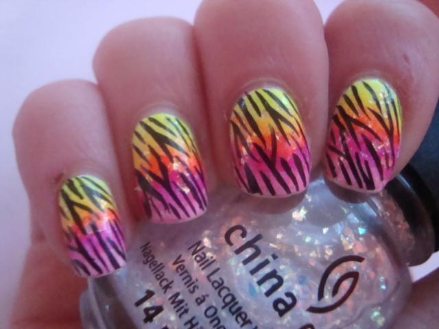 Cute Nice Zebra Nail Design