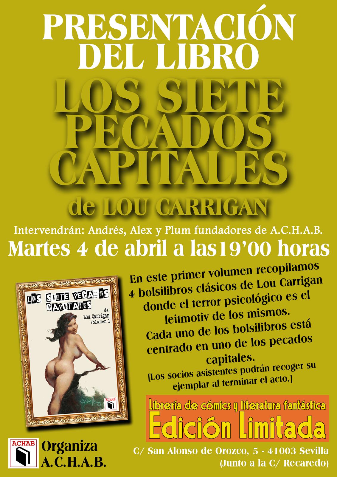 """PRESENTACIÓN DEL LIBRO """"LOS SIETE PECADOS CAPITALES"""""""
