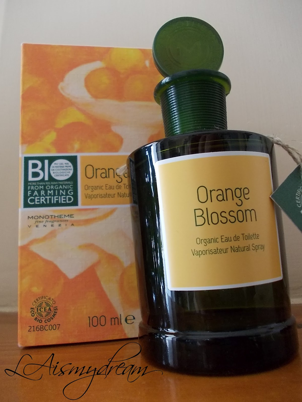 laismydream trucco e review eau de toilette orange blossom di monotheme bio. Black Bedroom Furniture Sets. Home Design Ideas