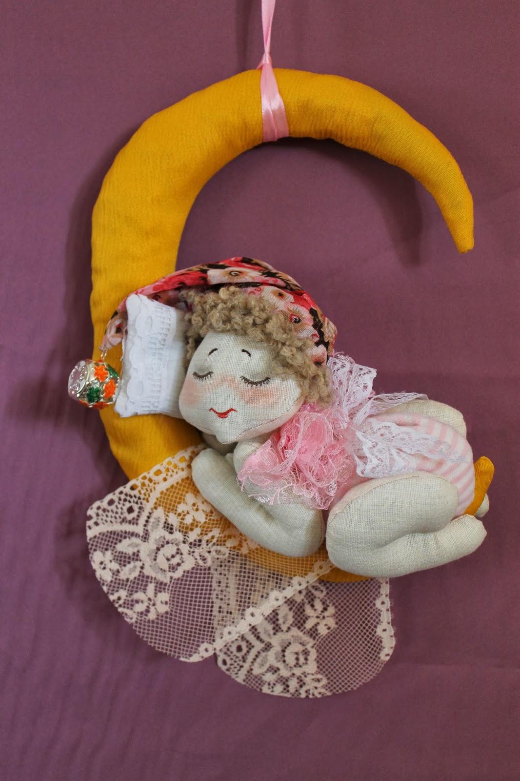Текстильная игрушка Лунный ангел