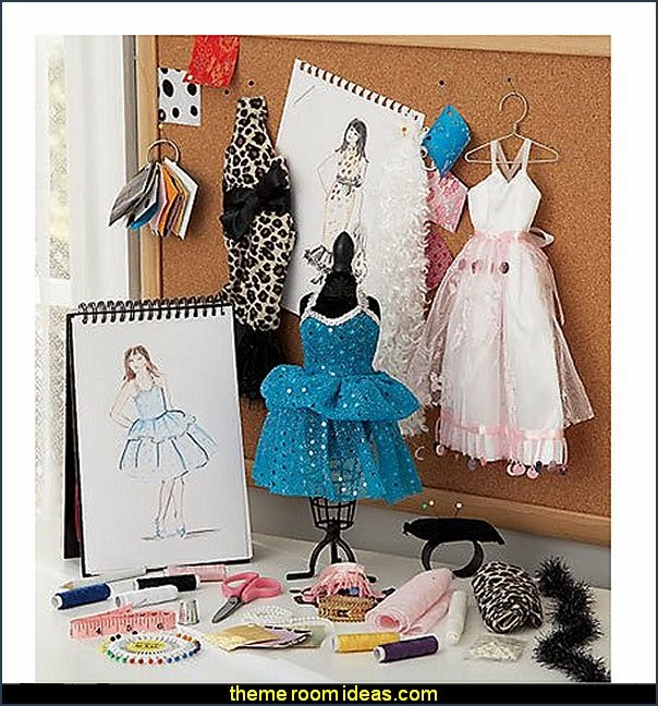 kit fashionista diva style bedroom decorating runway theme bedroom