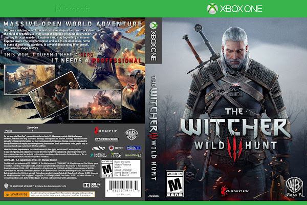 Capa The Witcher 3 Wild Hunt Xbox One