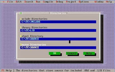 TurboC directory paths