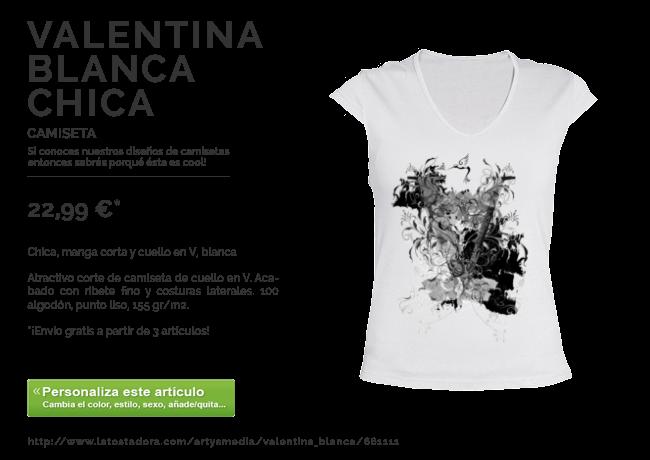 Camiseta VALENTINA BLANCA CHICA